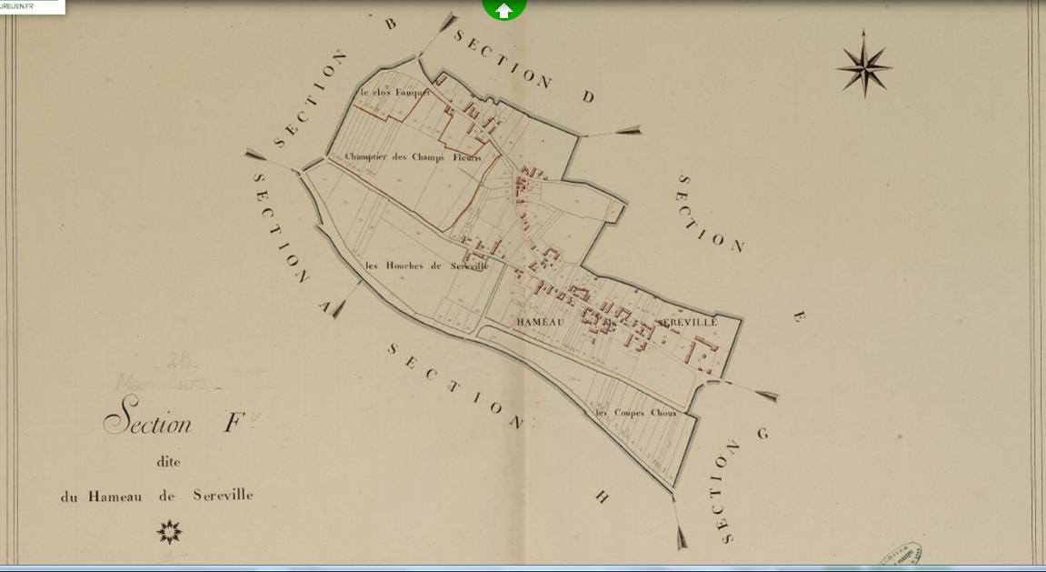 Carte de 1809 (source conseil général)